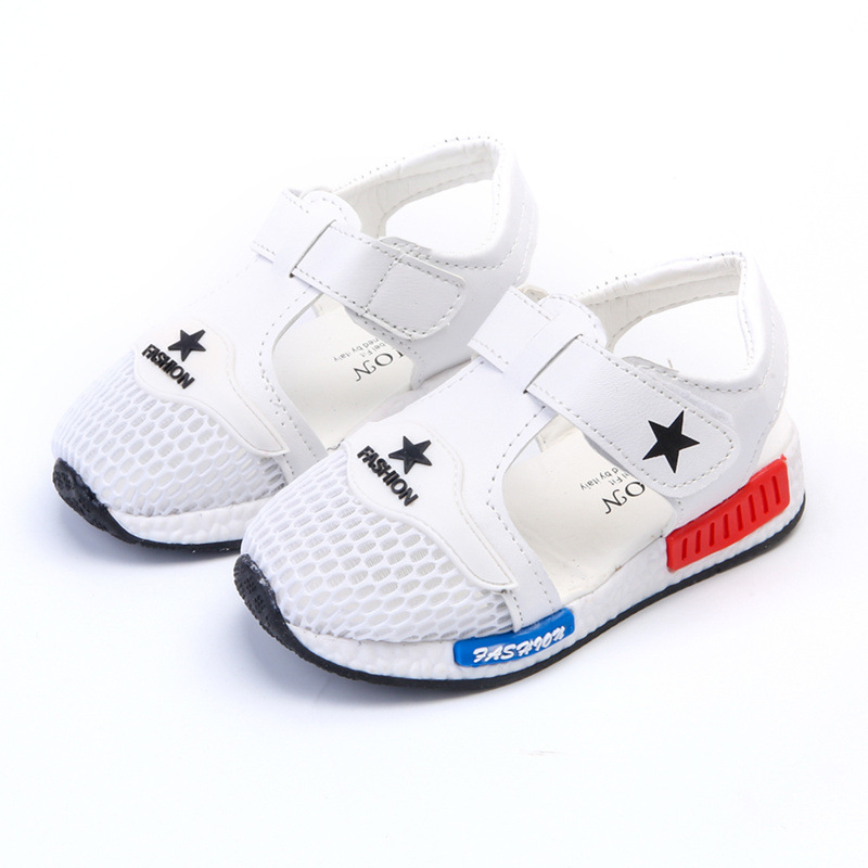 Free shipping 2017 New Tide Summer Childrens Casual Sandals, Boys, Girls, Breathable Mesh Shoes