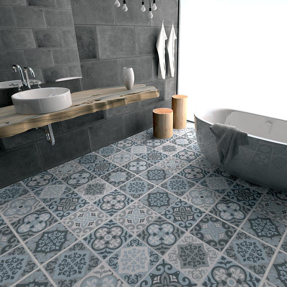 US $17.83 50% OFF|Blau grau fliesen anti skid tragen beständig wasserdichte  boden zu paste die wohnzimmer küche boden aufkleber-in Wandaufkleber aus ...