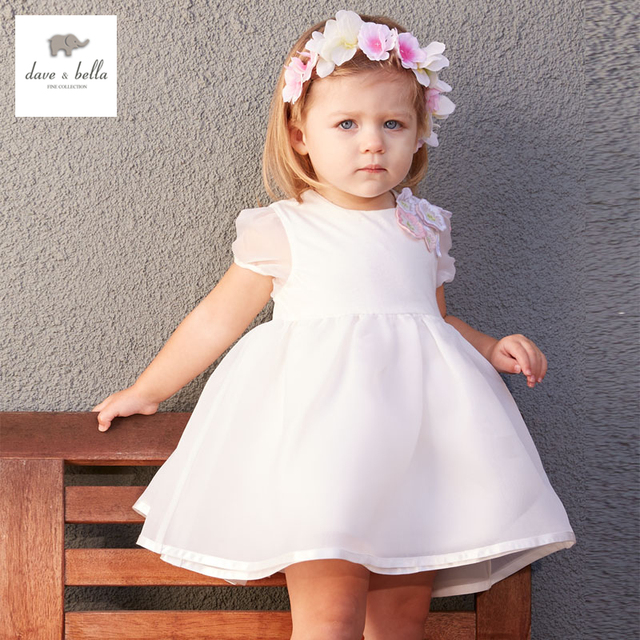 DB3413 dave bella estate della neonata principessa abito bambino vestito da  cerimonia nuziale di compleanno per 701c670e426