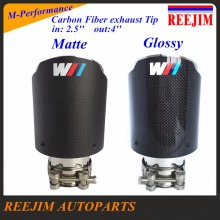Stainless  M Performance Carbon  Exhaust Tip In 63mm (2.5″) Out 100mm (4″) car-styling Akrapovic exhaust car muffler tip
