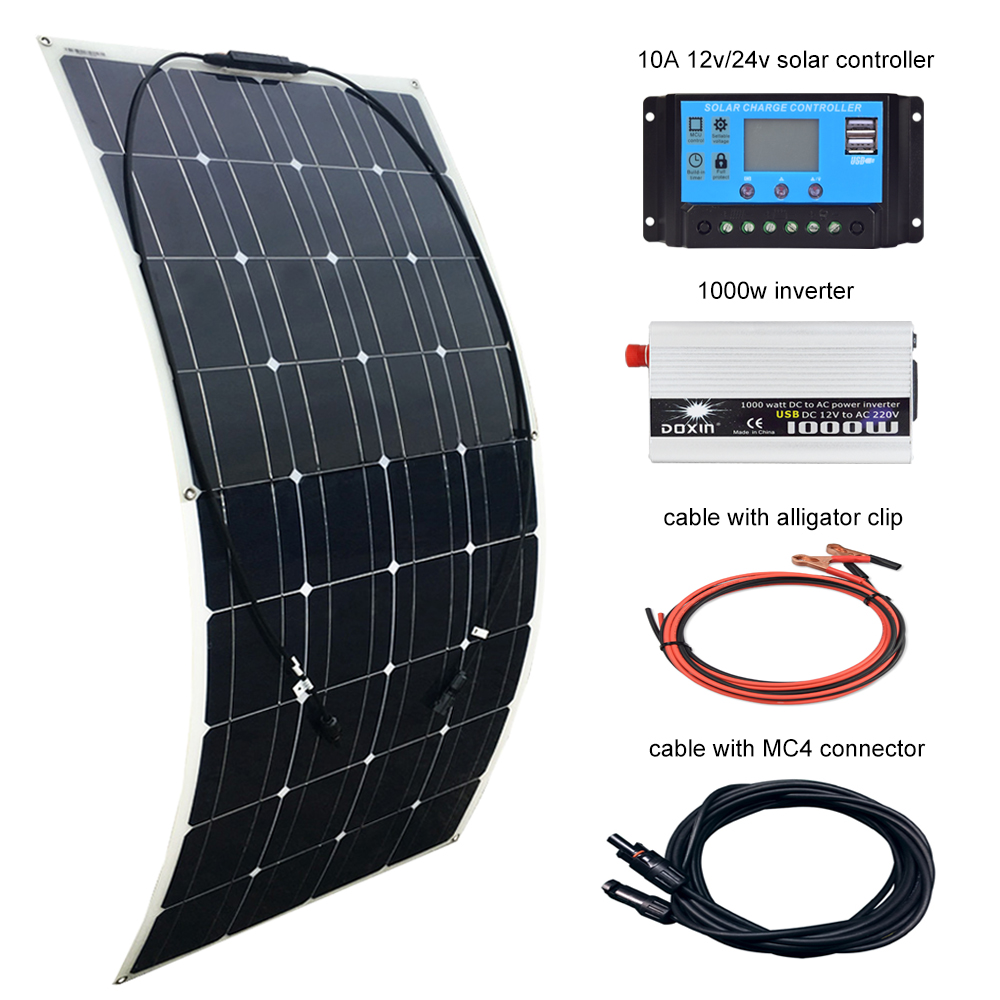 Bettwäsche Ac Dc 500w Watt Solar Panel Power Inverter Alternative Solar Energy