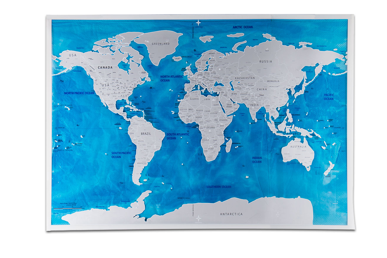 Travel world scratch map ocean edition scratch off foil layer travel world scratch map ocean edition scratch off foil layer coating world map 1piece in stock deluxe scratch map 575x815 cm in wall stickers from home gumiabroncs Images