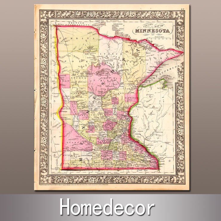 Individuality Art Prints PromotionShop For Promotional - Us individual state maps
