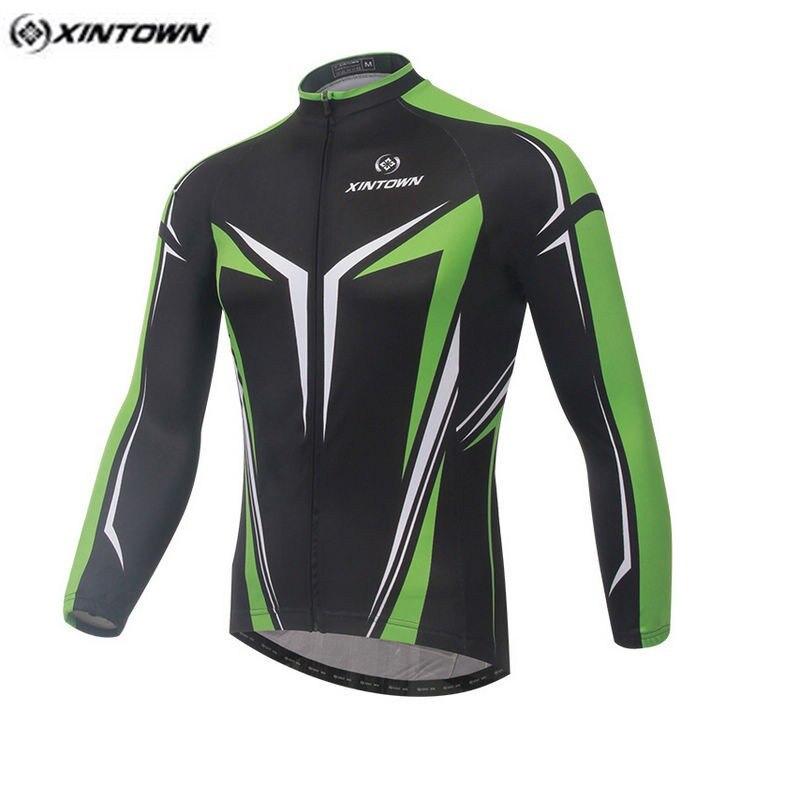 Hot Men Bike Long Jersey Green Black Pro Team Cycling Clothing Riding Top Mtb Ropa Ciclismo Wear Maillot Long Sleeve Shirts At Any Cost Sports & Entertainment Cycling Clothings