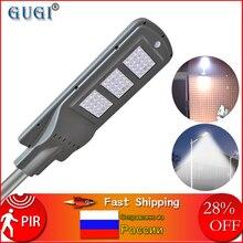 GUGI 60 Вт Солнечный уличный светильник с датчиком движения водонепроницаемый светодиодный солнечный светильник наружный светодиодный уличный светильник для площади сада двора