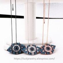 4pcs/lot Luck Jewel Turkish Eye Shining Micro Pave CZ Women Pendant Necklace Punk DIY Design Trendy Handmade DIY Vintage Jewelry