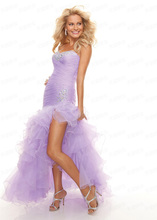 Cheap free shipping robe de soiree 2014 new fashion hot sexy sweetheart organza vestido noiva crysal ruffles prom dresses