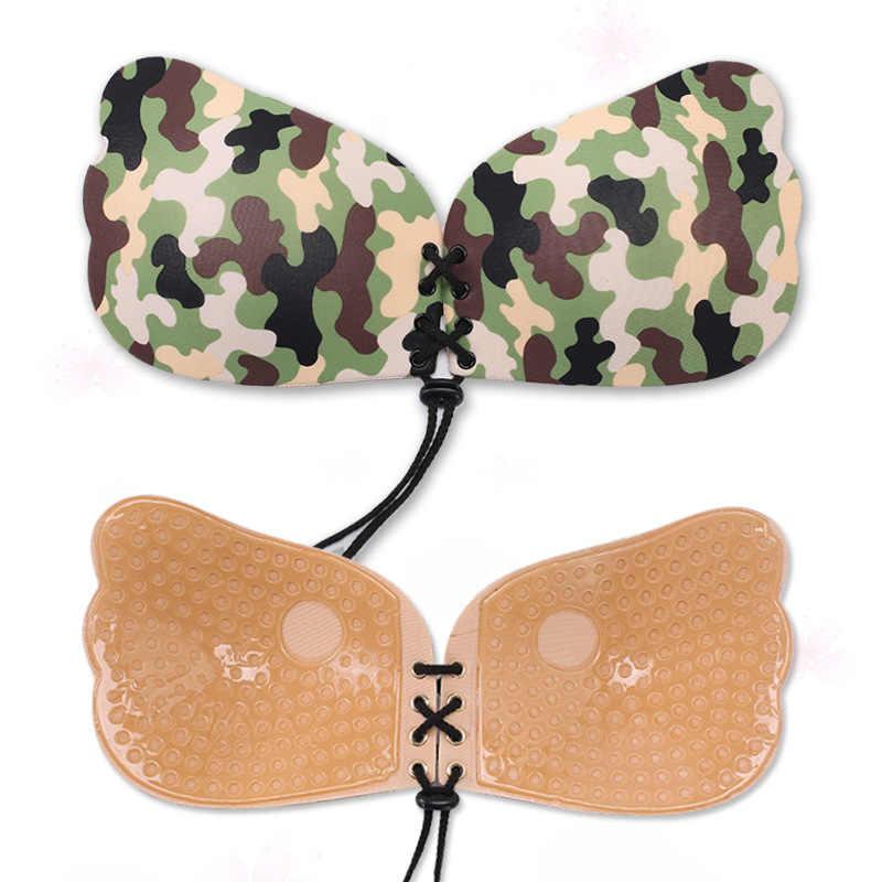Sujetador en forma de conejo cinta de elevación de pecho accesorios íntimos mujeres Sexy Push Up pegatinas pezón cubierta adhesiva