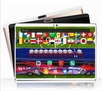 10 дюймов планшетный компьютер Tablet 64 ГБ ROM 4 г LTE телефон таблетки 10,1 WIFI 2.5D 1920*1200 IPS футбол видео для 2018 Кубок мира