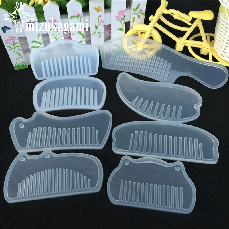 1pcs UV Resin Clear Silicone For Comb Mold For Epoxy Resin With Real Flower Handmade Jewelry Tools Resin Molds For Jewelry