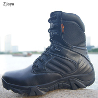 2016 Men Military Tactical Boots Desert Combat Outdoor Bot Army Hiking Travel Botas Leather Autumn Ankle