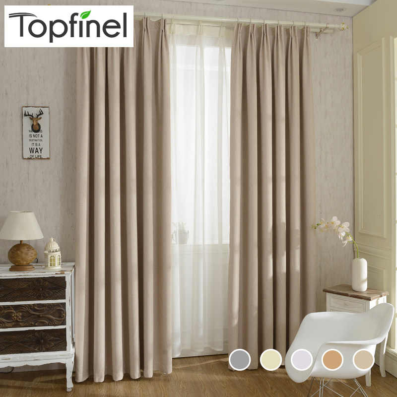Top Finel New Solid Twill Window shade thick Blackout Curtains For living Room Bedroom Window Treatment panel drapes and blinds