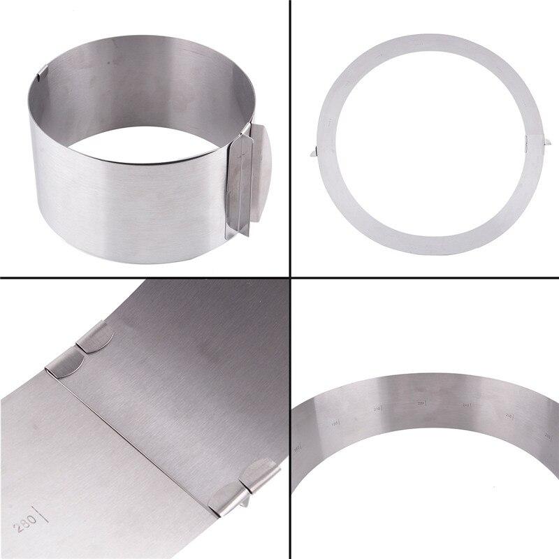 Praktische küche Silber Versenkbare Edelstahl Kreis Mousse Ring - Küche, Essen und Bar - Foto 5