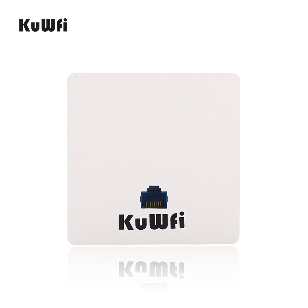 KuWFi 300Mbps Wireless Wifi Router Indoor In wall POE AP Router for Hotel/Dormitory/Hospital/Villa Support 20users-in Wireless Routers from Computer & Office