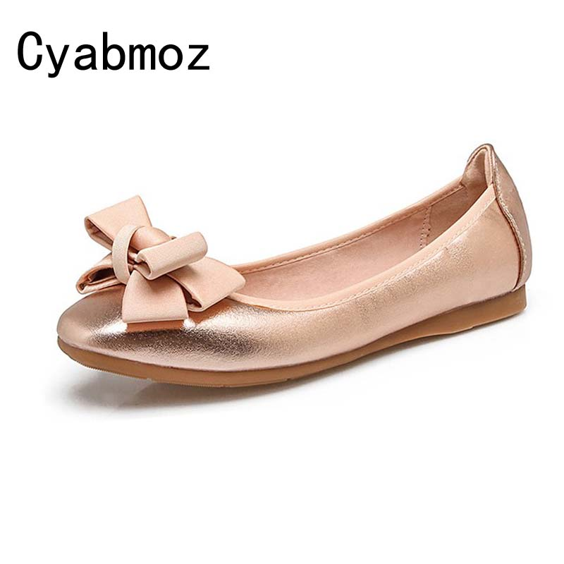 Cyabmoz Brand 2018 Newest Women Flats Square Toe Bow Tie Egg Rolls Shoes Comfortable Female Loafers Driving Shoes Big Size 34 42