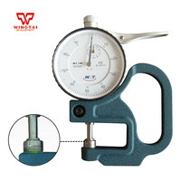 Mechanical Thickness Meter 0.01mm leather film thickness Gauge mechanical Pointer display