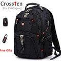 Top quality Suíço Multifuncional bolsa para laptop Mochila para 15.6 polegada laptop Macbook Schoolbag Sacos de Viagem 8112
