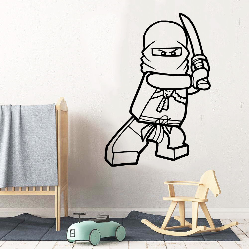 Lego Ninjago Wall <font><b>Stickers</b></font> For Baby's Rooms Decals Mural ninjago <font><b>Sticker</b></font> For Kids Room Lego poster muursticker <font><b>stickers</b></font> <font><b>muraux</b></font> image