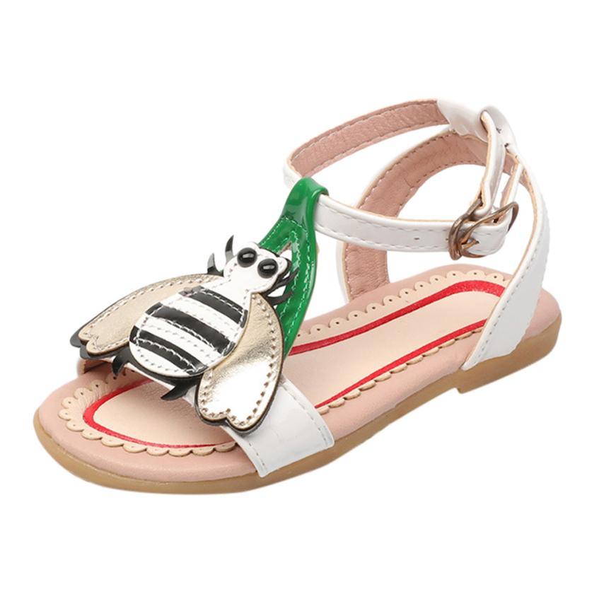 Toddler Kids Baby Girls Heart Cartoon Beach Sandals Princess Roman Single Shoes new arri ...