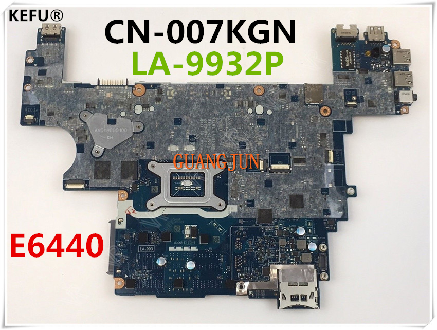 KEFU For Dell E6440 Laptop Motherboard CN 007KGN 007KGN 07KGN VAL91 LA 9932P Testing Fast Ship