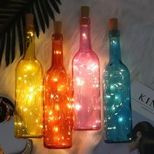 2M LED Garland Waterproof Copper Wire Corker String Fairy Light Wine Bottle Lights for Home Party wedding Decoration