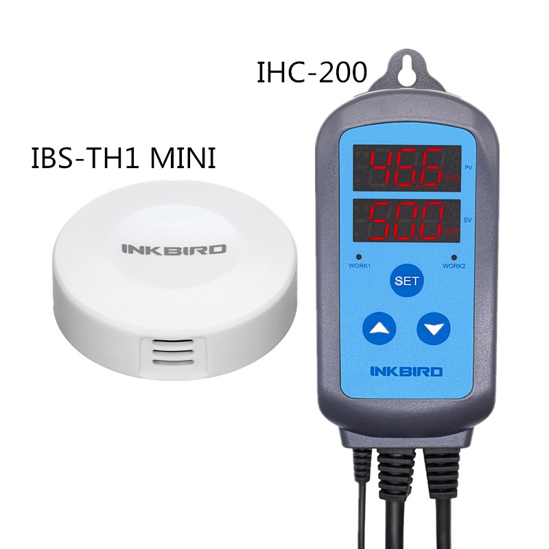 Inkbird NEW Combo IHC 200 Temperature Humidity Controller Thermostat IBS TH1 MINI Bluetooth Wireless Smart Sensor