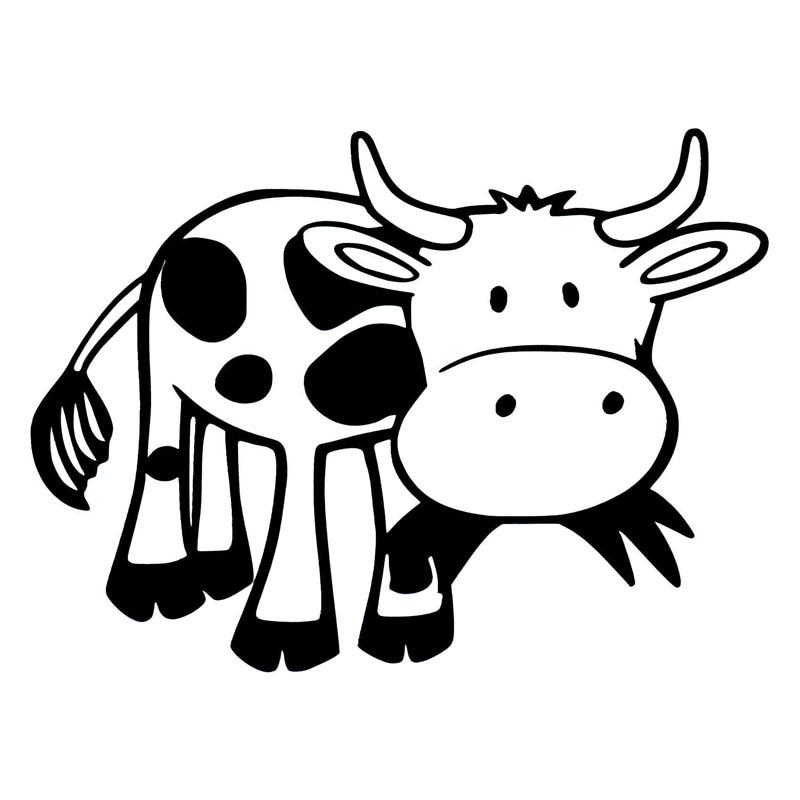 Eat Meat Cow Decal Window Bumper Sticker Car Decor Cattle Beef Farmer Hamburger Ebay