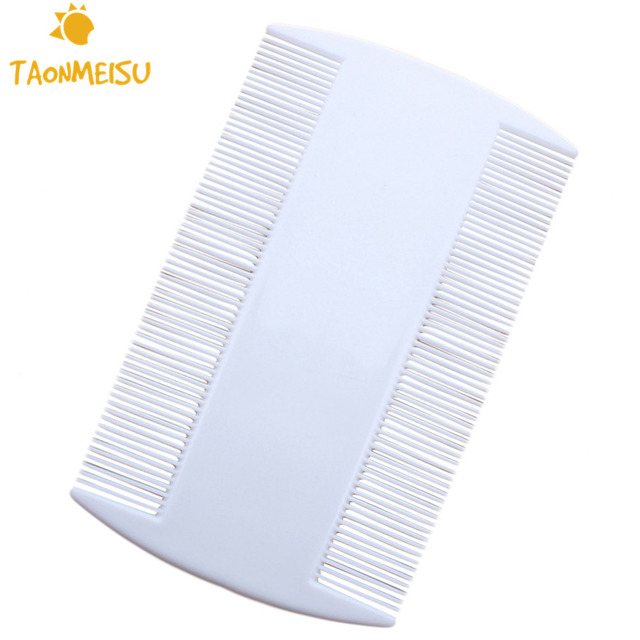 10 Pieces / Lot Hairbrush Grate Dog & Cat Brush Pet Grooming Comb For Hair Cleaning Trimmer Double Sided White Plastic Flea Comb