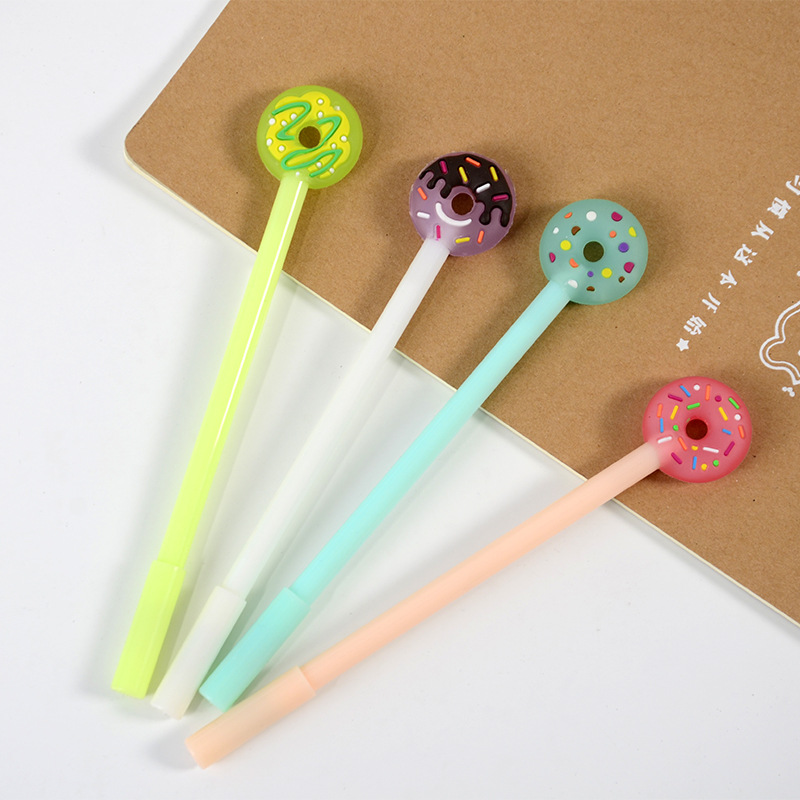 E8 South Korea Cute Lovely  Little Fresh Sweet Donuts Stationery Gel Pen Black Ink Student Supplies Factory Direct Wholesale
