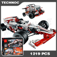 1219pcs Techinic 2in1 New F1 Grand Prix Racer 3366 Race Truck DIY Model Building Kit Blocks Gifts Toys Set Compatible With lego