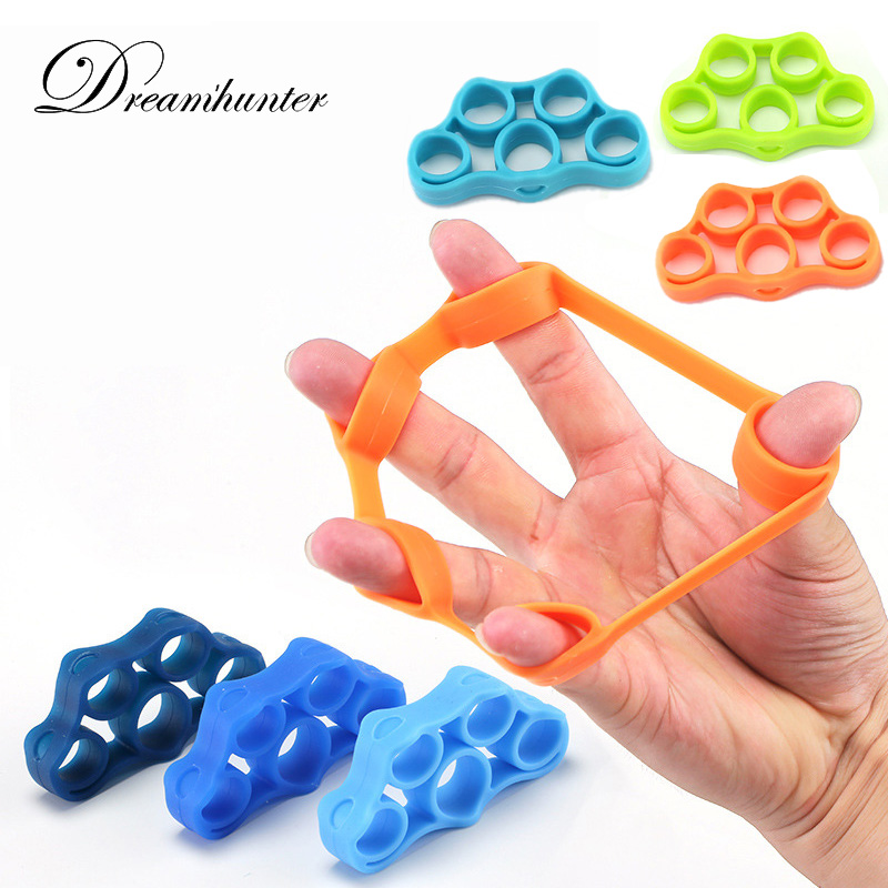 3 PCS/Set Outdoor Equipment Finger Strength Trainer Silicone Gripper Excercise Resistance Band Climbing Training Wrist Rock