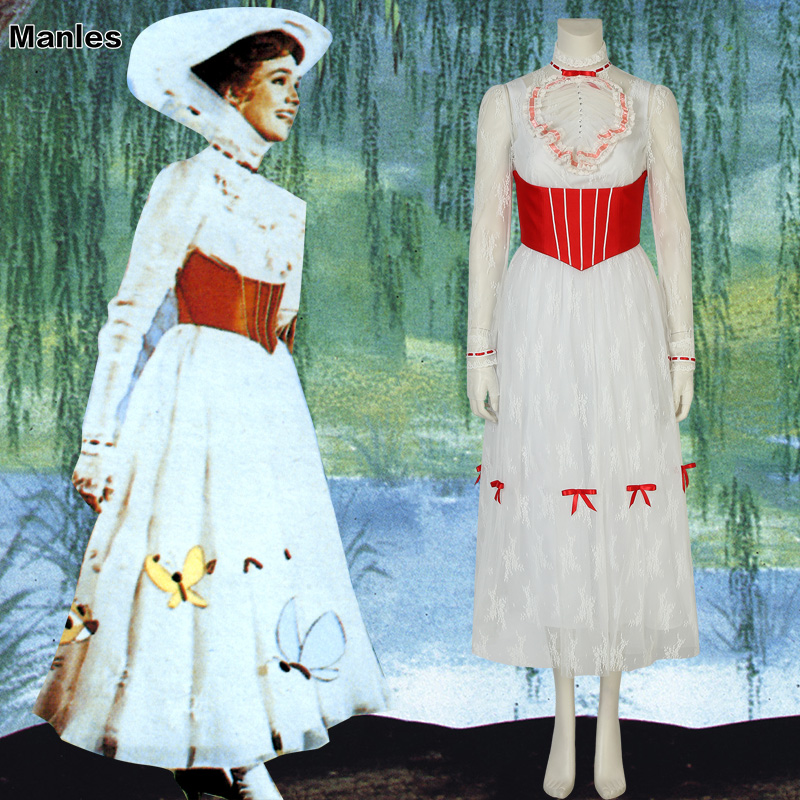 Mary Poppins Cosplay Julie Andrews Edwards Costume Movie