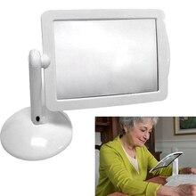 Яркий светодиодный экран, увеличительное стекло для чтения, увеличительное стекло с увеличением, портативное Подарочное стекло для чтения, es для родителей