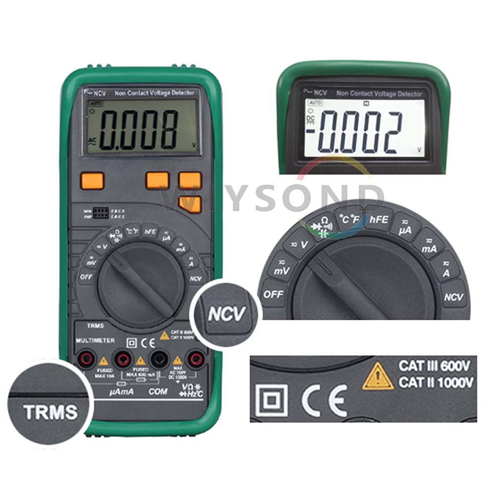 M068 MS8268N PRO TRUE RMS Auto Range AC DC Voltage Current Frequency Resistance Capacity Diode Test Tester Digital Multimeter  usb interface multimeter tester test true rms ac dc current voltage resistance capacitance diode temperature duty cycle meter
