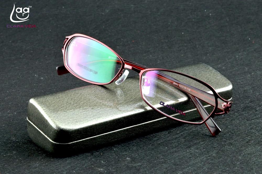 Clara Vida 2017 new design women lady girl red full frame elegegance glasses frame reading glasses myopia photochromic lenses