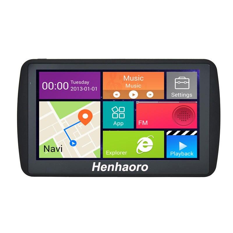 """Автомобиль GPS навигации Android 7 """"емкостный сенсорный экран Навигатор Bluetooth Quad-Core Россия Навител Карта Европы грузовик GPS навигатор"""
