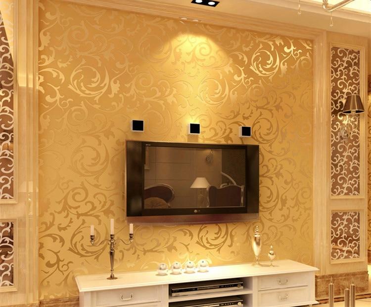 elegant acheter d peintures murales papier peint dcoration de photo pour salon papel de parede chambre coucher floral moderne vinyle tv papier with model - Peinture Moderne Pour Salon