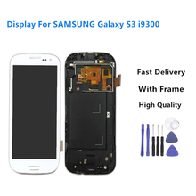 i9300 Display For SAMSUNG Galaxy S3 LCD Screen with Frame Replacement For SAMSUNG Galaxy S3 Display i9301 i9308i i9301i+Tools
