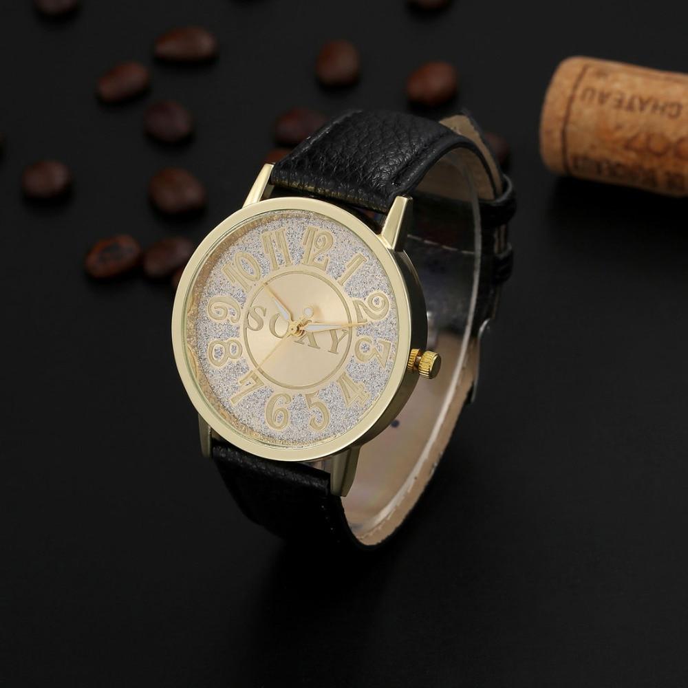 cd4c2f1f6 Soxy موضة الذهب ووتش المرأة ساعات جلدية حزام المعصم ووتش السيدات ووتش سيدة  ساعة هدية ساعة relogio feminino reloj موهير