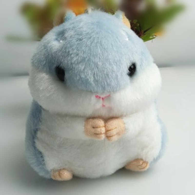 Fashion Hamster Plush Toy Key Chains Ring Woman Keychain Bag Charms Faux Rex Rabbit Fur Pompom Car Keyring Party Gift Trinket