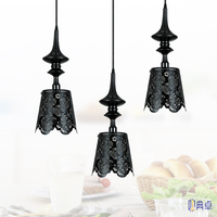 Nordic Romantic Hollow Carved Art Lace Iron Pendant Lights Lamp Bedroom Villa Restaurant Preferred LED Lamp