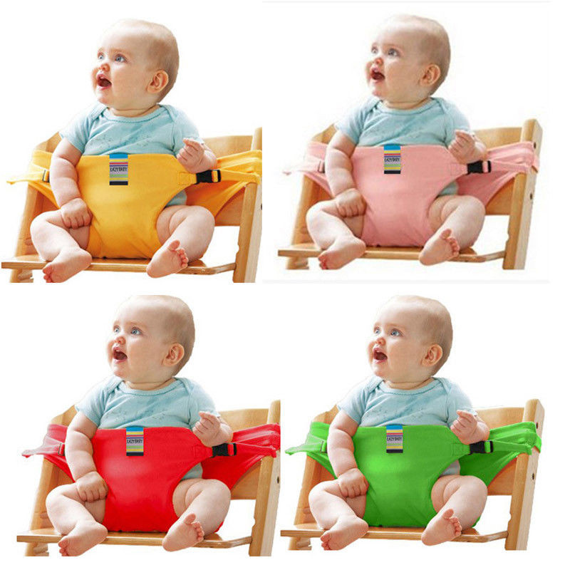 Portable Baby High Chair Booster Safety Seat Strap Harness Dining Seat Belt Stroller Accessories