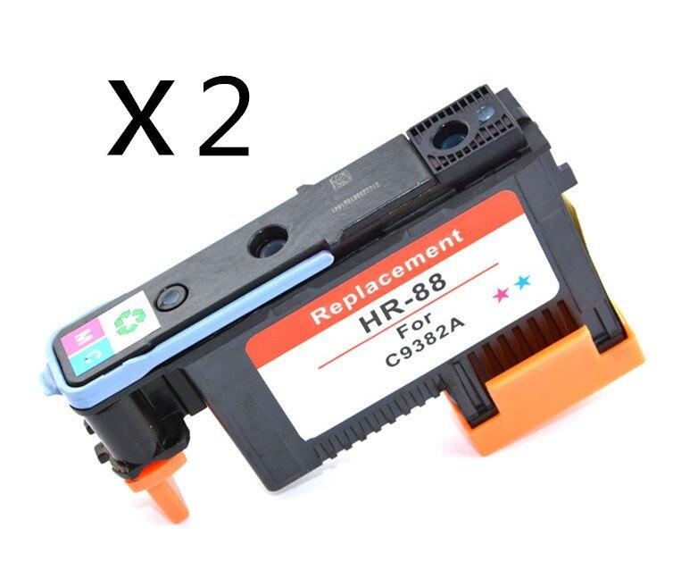 ФОТО 2pcs/set Remanufactured Printer head for HP88 C9382 printhead for HP K550 K5400 K8600 L7000 L7480 L7550 L7580