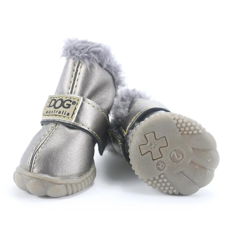 Sepatu Anjing peliharaan Musim Dingin Super Hangat 4 pcs / set Sepatu - Produk hewan peliharaan - Foto 3