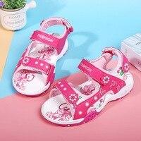 Mudipanda Pink beach sandals 2019 summer new girlscartoon cute princess shoes slip open toe beach Sandals girls shoes wholesale