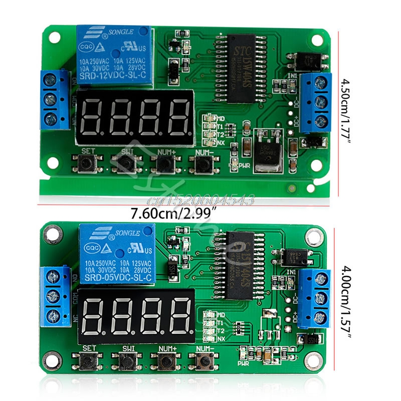 DC 5V 12V Multifunction Self-lock Relay PLC Cycle Module Timer Delay Time Switch R02 Drop ship 12v led display digital programmable timer timing relay switch module stable performance self lock board