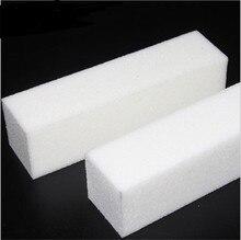 Free Shipping 10 Pcs WHITE Buffer Block Acrylic Nail Art Care Tips Sanding Files Tool Wholesale 4 Ways Shine High Quality