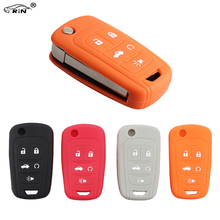 RIN Key Case for Car Chevrolet Camaro Cruze 2010-2013 5Buttons Sonic Silicone Key Case