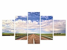 5 Pieces Free Shipping Canvas Painting Wall Art Abstract Highway Print for Living Room Posters and Prints Modern Framed