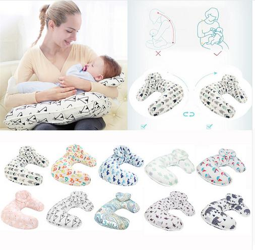 2pcs/Set Baby Nursing Pillow For Feeding Maternity U-Shape Cotton Breastfeeding Cushion Nursing Maternity Pillows For Mother